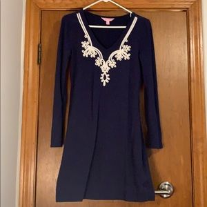 Lilly Pulitzer navy dress, size small